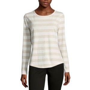 Liz Claiborne Long Sleeve Scoop Neck T-Shirt